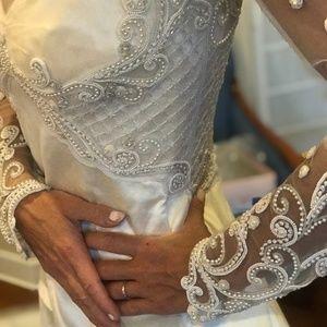 Fausto Sarli Handmade Beaded Wedding Gown